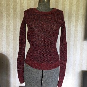 Old Navy Red and Black Marled Sweater Size S