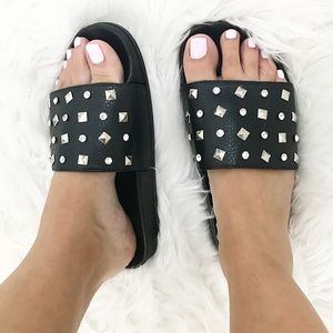 Shoes - Studded slides 😎