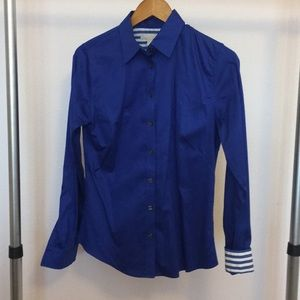 Blue Banana Republic Non-Iron Fitted Long Sleeve.