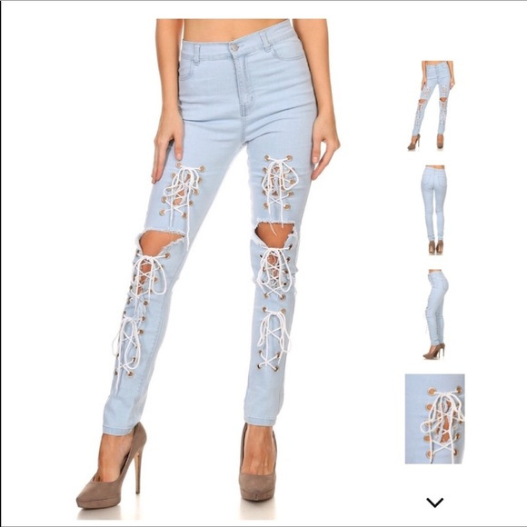 how to cut jeans at knee