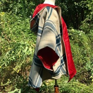 Jackets & Blazers - Vintage wool plaid cape