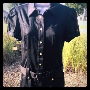 HP🎉NWT GUESS black buckled Dress 👗 Large