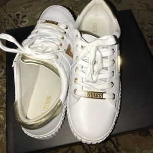 White And Gold Guess Shoes   Poshmark