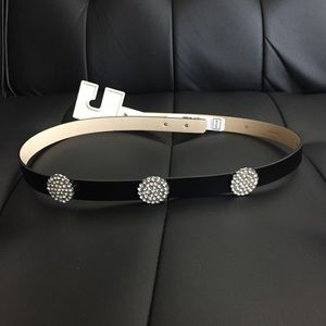 kate spade Accessories - Brand New Kate Spade Leather & Rhinestone Belt