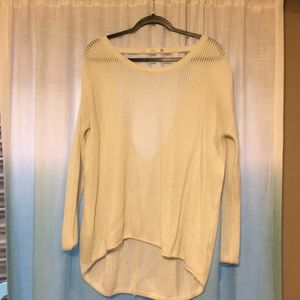 LF Millau cotton knit sweater with open back