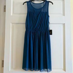 NWT Jack by BB Dakota Blue Illusion Dress, Size 0