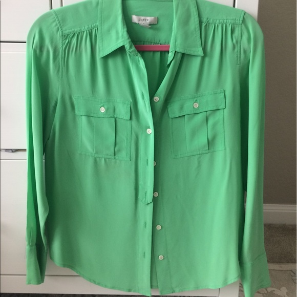 J. Crew Tops - J. Crew silk button down