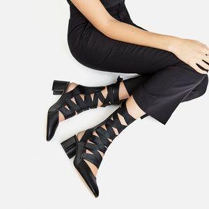 ZARA  Lace-up Strappy High Heel Slingback