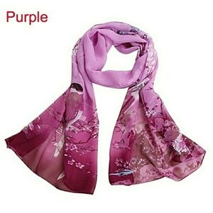 Accessories - Purple Chiffon Magpie Scarf