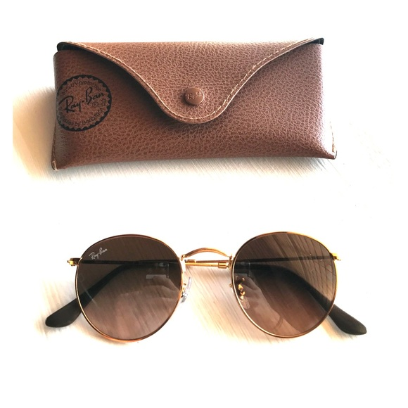 097868b4ff5 Ray-Ban Accessories - Ray-ban Round Metal Pink Brown Gradient