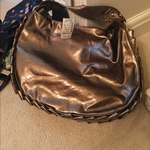 NEW Nicole Lee handbag modeled by tyler lol :)