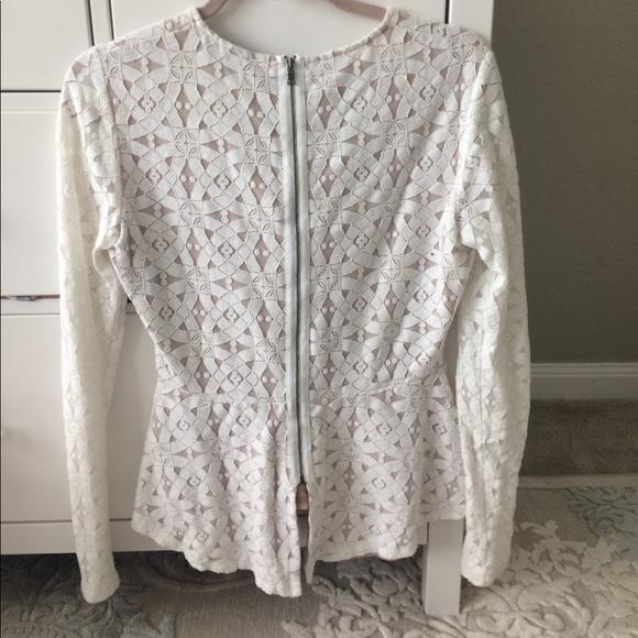 BCBGMaxAzria Tops - Long sleeved, peplum top.