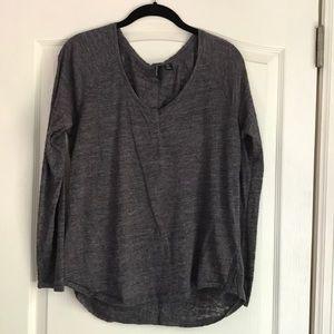 Gray Cynthia Rowley long sleeved shirt