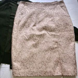 Matelasse Pencil Skirt