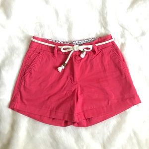 Pink Cambridge Shorts w. Rope Belt