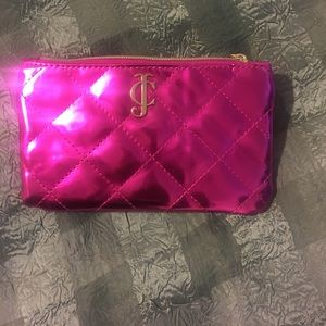 Juicy couture metallic makeup bag