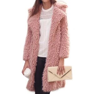 Jackets & Blazers - Pink Faux For coat
