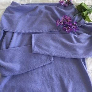 Lavender off the shoulder sweater top