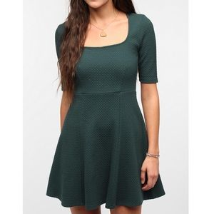 Pins and Needles forest green skater dress
