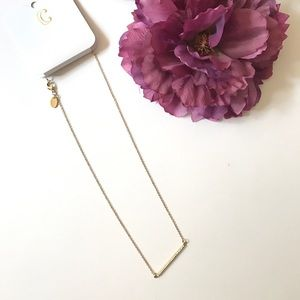 Dainty Bar necklace w/ white dots Charming Charlie