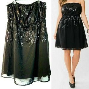 Lane Bryant 18/20 Black Sequin Tube Dress