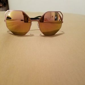 Other - Rose Metal Framed Sunnies