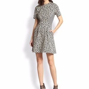 Thakoon addition paneled floral jacquard dress