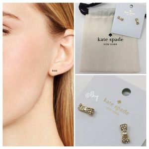 ❌SOLD❌ KATE SPADE MINI PAVE BOW EARRINGS