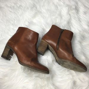 J. Crew brown leather Aggie Booties 7.5
