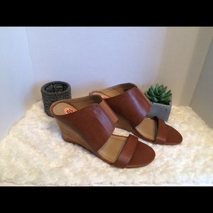 Kenneth Cole leather mules, sz 10