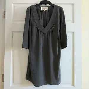 EUC Rory Beca Gray 100% Silk 3/4-Sleeve Tunic Top