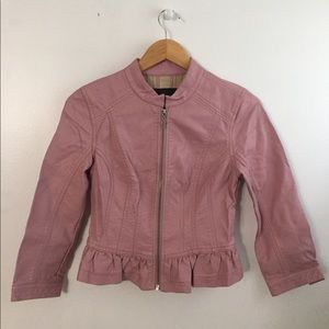 Guess Faux leather jacket with grill detail for sale