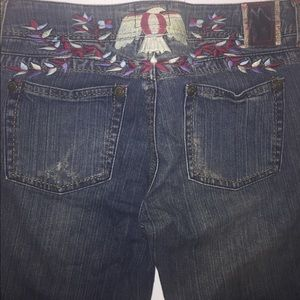 VINTAGE Hippy Jeans with Embroidery