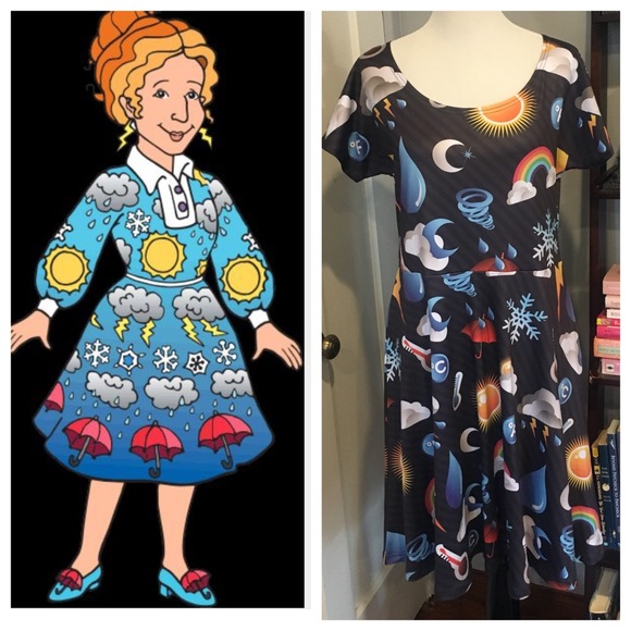 ms frizzle halloween costume cowcow weather dress