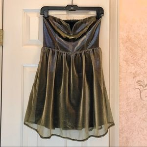 Urban Outfitters Strapless Iridescent Dress