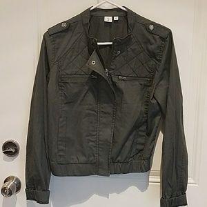 Gray jacket!