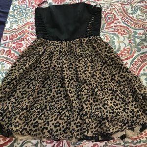 [Rachel Roy] Cut Out Cheetah Print Dress