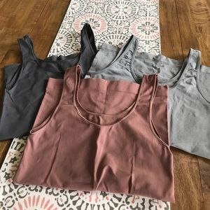 Other - Tank top undershirts with spandex all size Medium