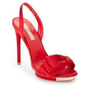 dd4ac079d1 BCBGMaxAzria Shoes - New BCBG MaxAzria red satin Lavi high-heel shoes 9