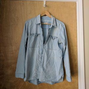 Madewell Chambray shirt, medium