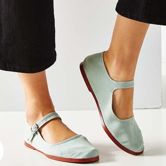 Urban Outfitters Shoes Urban Outfitters Mint Canvas Mary Janes Poshmark