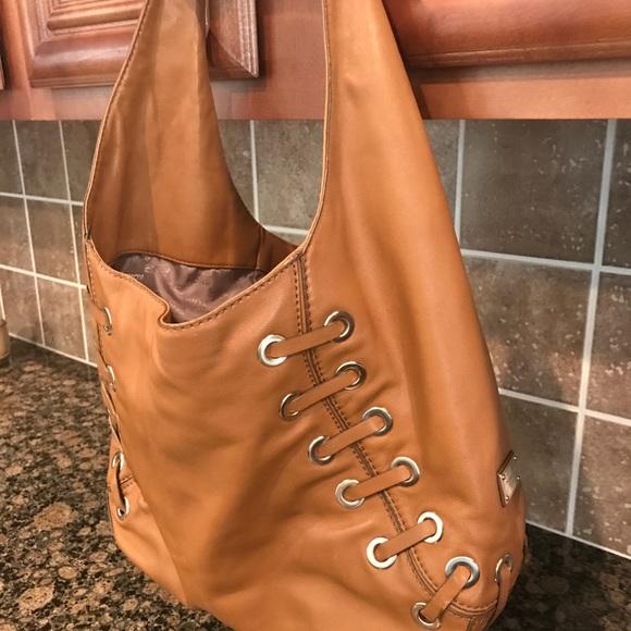 432c682d1ea4 Michael Kors Bags   Astor Tan Leather Grommet Hobo Bag   Poshmark