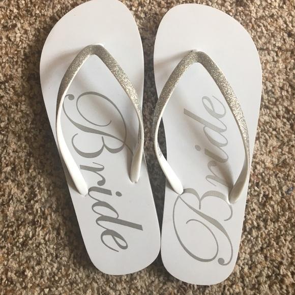 860c1fa8f3a2 Never worn Bride Flip Flops. M 59adb19ff0137da8d2000116