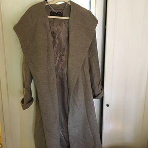 Zara Basic Wool grey trench coat