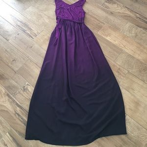 Size xs GUC log Lange maternity purple maxi dress