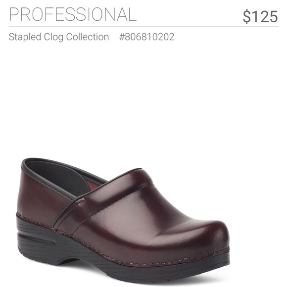 7f1859ca172 Dansko Shoes - Burgundy Dansko Clogs