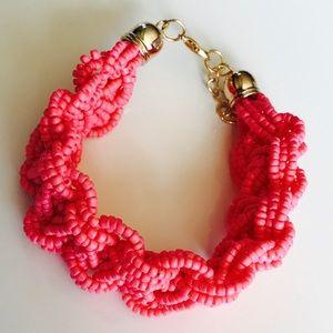 Jewelry - Pink Chunky Beaded Bohemian Bracelet