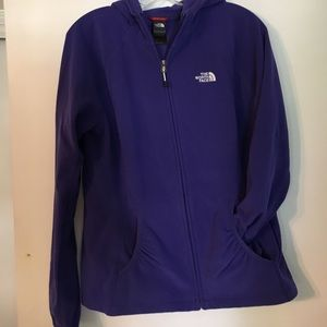North face zip fleece hoodie