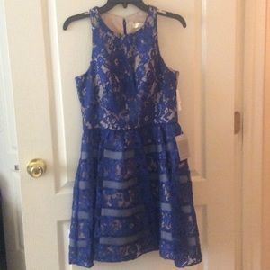 🆕 Aidan Mattox blue floral dress size 6 rt $198