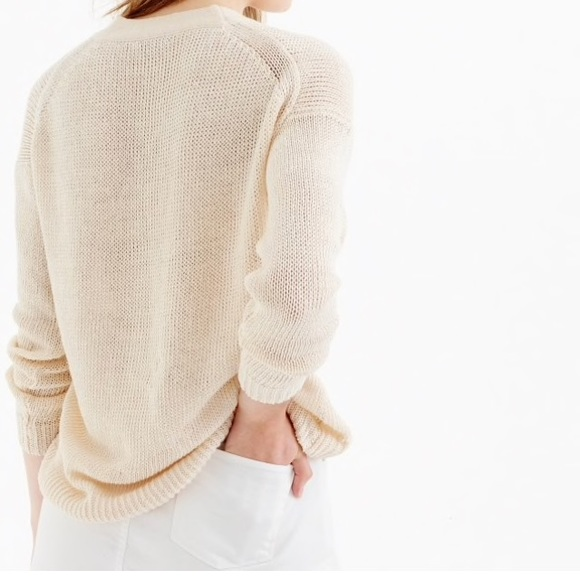 f142588b59 ... linen and lace- up beach sweater. NWT. J. Crew.  M 59adb831620ff7902d00416b. M 59adb83db4188e1705002334.  M 59adb846c28456059f003d08